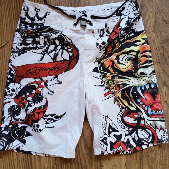 8cbd9781d8 Ed Hardy Swim | Board Shorts Pray For Surf Size 34 | Poshmark